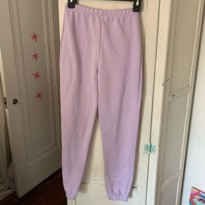 NWOT purple joggers